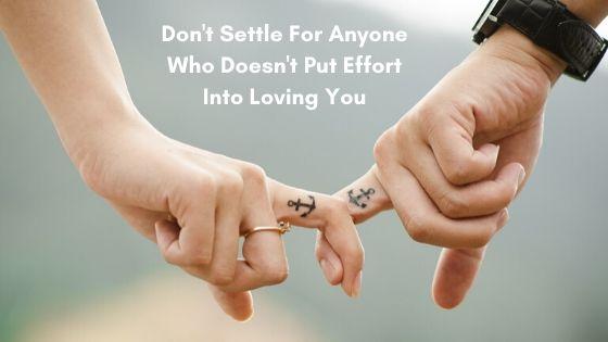 Lifestyle blog dont settle for anyone who doesnt put effort into loving you morgan nesbitt perth wa