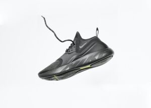 example of how to take product photos at home with your smartphone with a nike shoe